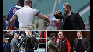 Prince Harry news - Harry watches the England rugby team at Twickenham