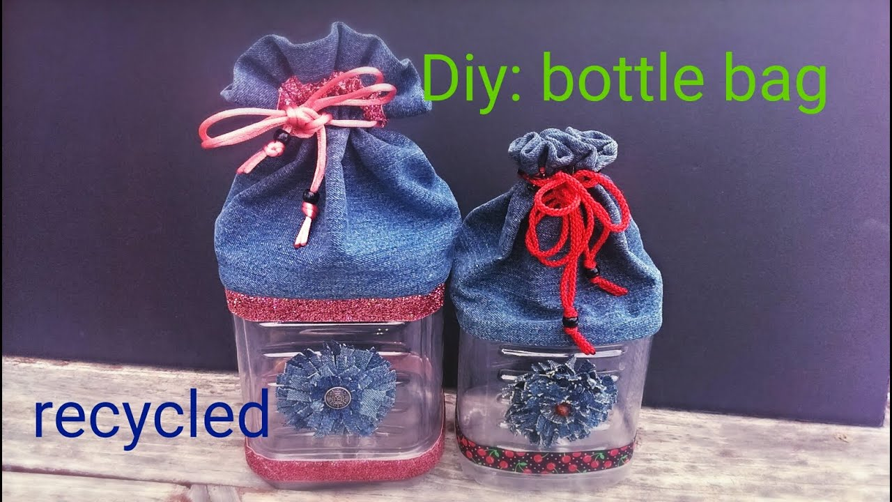Diy how to make a bottle bag using recycling materials for Diy crafts using recycled materials