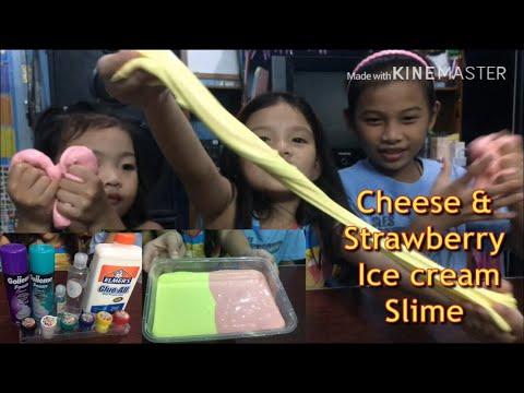 Cheese & Strawberry Slime | Veronica & Jamaica W/angel 😘