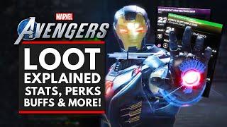 MARVEL'S AVENGERS | Loot Explained - Stats, Perks, Elemental Buffs & More!