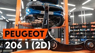 Wie PEUGEOT 206 CC (2D) Spurstangengelenk auswechseln - Tutorial