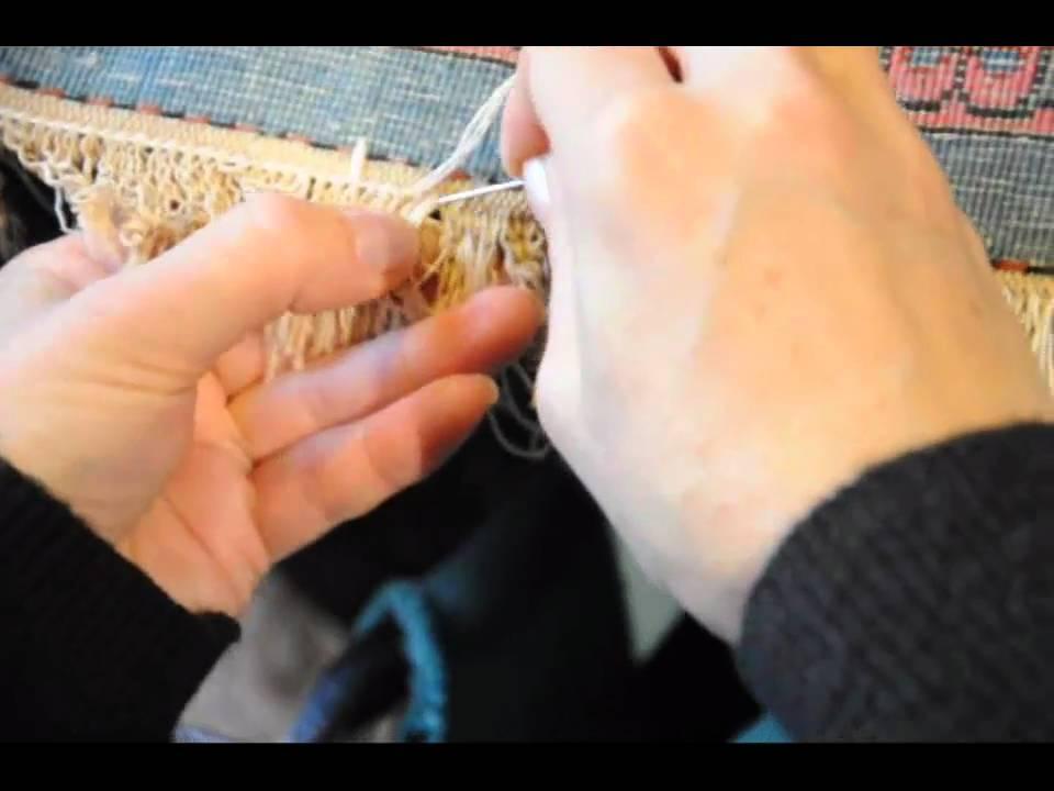 Fransenreparatur bei Teppichen  wwwteppichundkulturcom