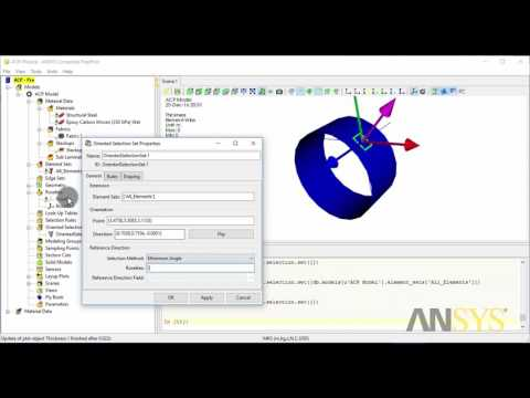 Analyse Composite Materials using ANSYS