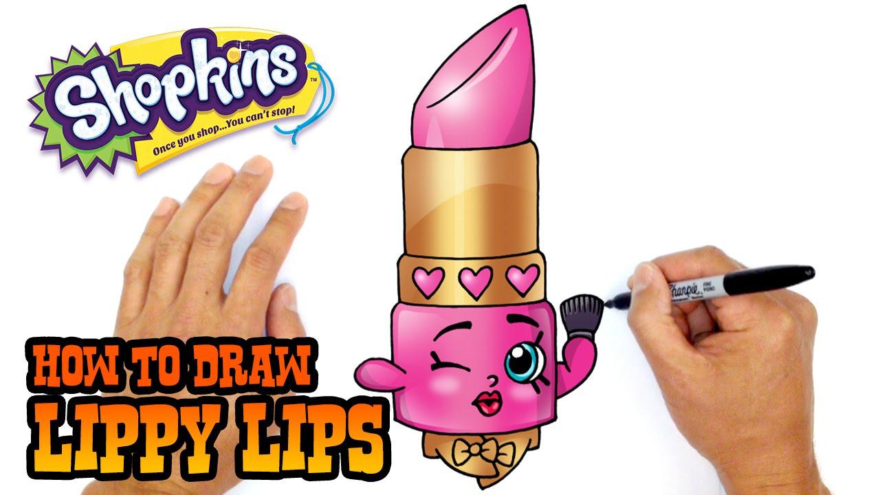 How To Draw Lippy LIps | Shopkins   YouTube