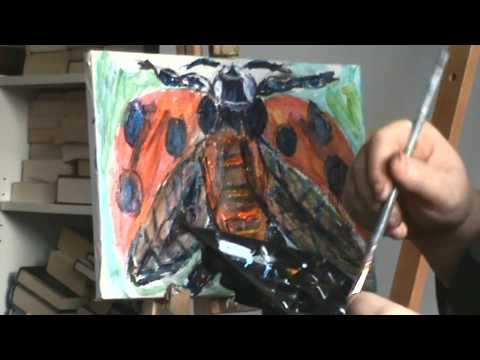 Painting with Pseudonymonic: 7-Spotted Ladybird (Speedpaint)