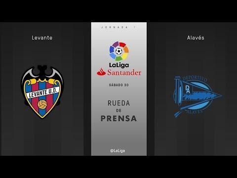 Rueda de prensa Levante vs Alavés