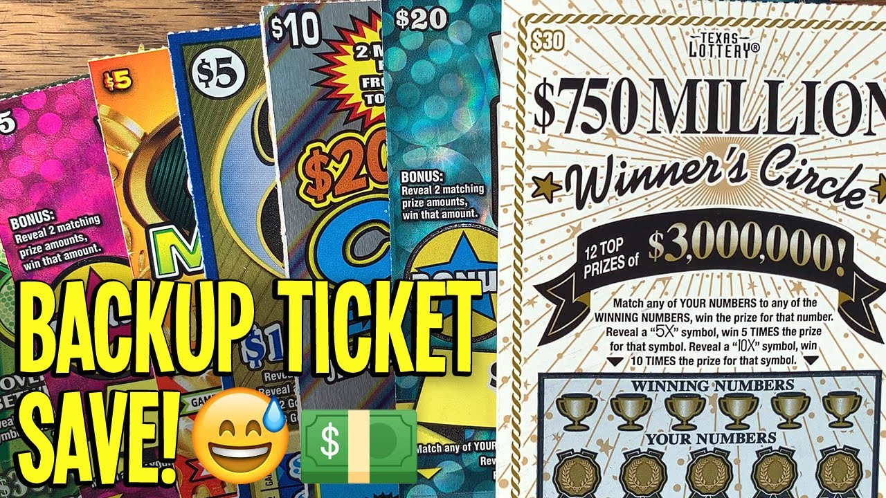 BACKUP TICKET SAVE! $160/TICKETS! 💰 2X $30 Winner's Circle + LOTS MORE! 💵 TX Lottery Scratch Offs