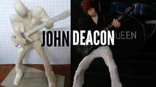 Escultura de John Deacon /Porcelana Fria / Queen Cap.1 \ I'M BRAYAN