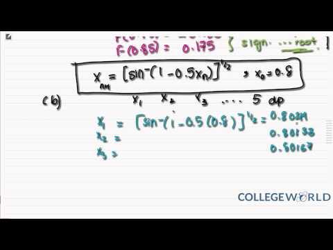 Maths numerical methods?
