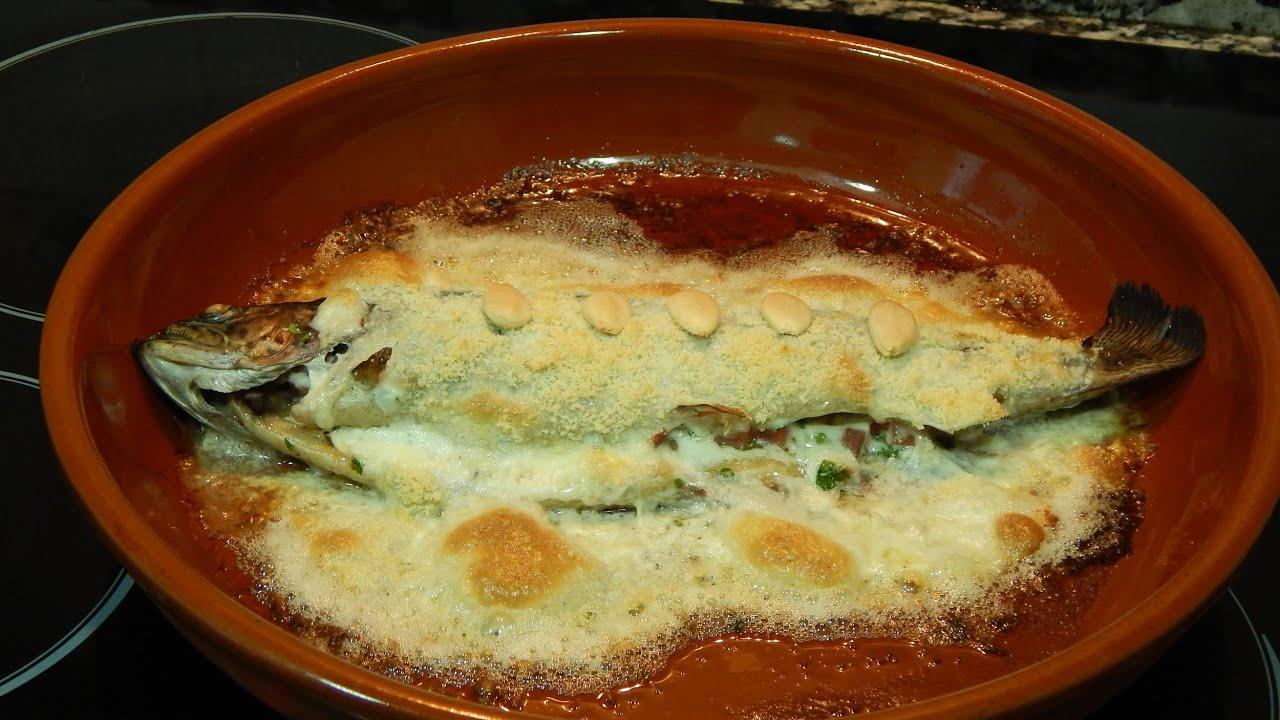 Recetas De Cocina Al Horno | Trucha Al Horno Con Salsa De Almendras Receta Facil Youtube