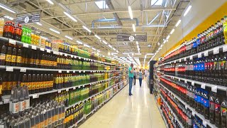RUSSIAN SHOPS UPDATE: Popular Summer  Drink /  Shopping in Huge Supermarket with Different Russia