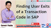 SAP ABAP - Steps to Find User Exits - YouTube
