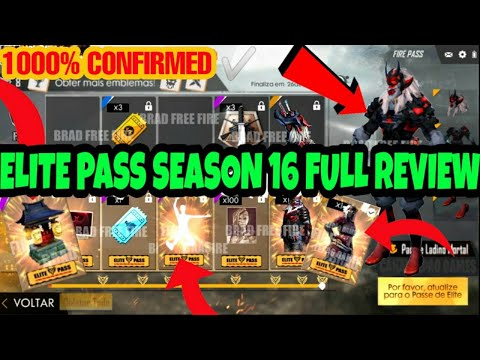 Free Fire Elite Pass Season 16 Full Review || 100% Real/Confirmed✅