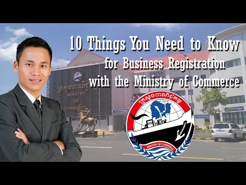 Business registration with the Ministry of Commerce in Cambodia