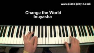 Change The World Inuyasha Theme on Piano for Beginners - Video Game Sheet Music