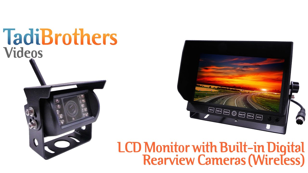 Digital Wireless Backup Camera system with Built In antenna, Night ...