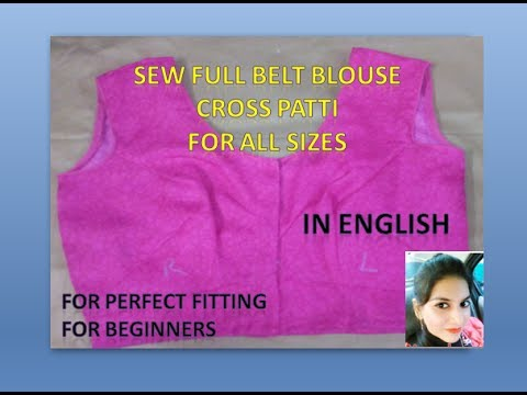 Sew Full Belt Blouse for all sizes | For Beginners | in English