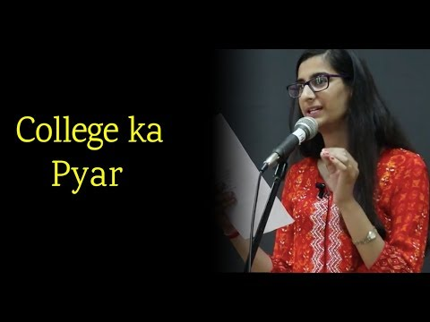 College Love Poetry at Nojoto Open Mic CGC by Nancy|College Love Story Poetry| Hindi Love Poetry