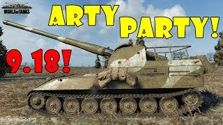 World of Tanks - Funny Moments | ARTY PARTY 9.18!