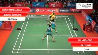 Mohammad Ahsan/Hendra Setiawan (Indonesia) VS Liu Xiaolong/Qiu Zihan (China)