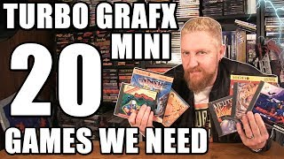 TURBOGRAFX-16 MINI 20 GAMES IT NEEDS! - Happy Console Gamer