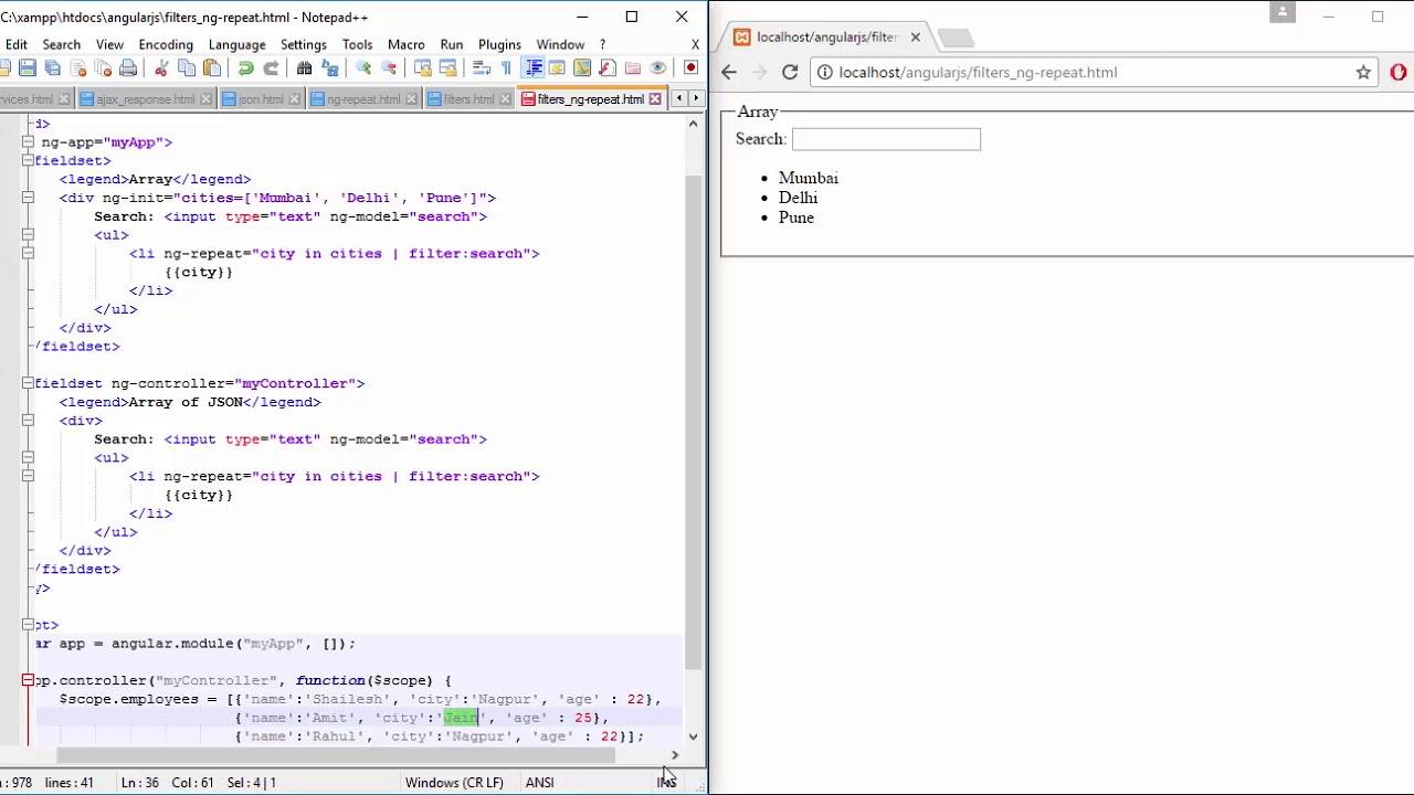 19 Filters ng repeat JSON   Angular JS