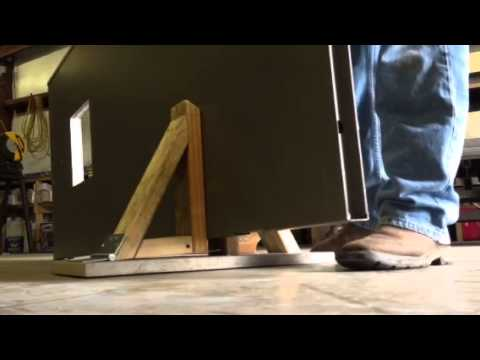 & Homemade active door stand - YouTube