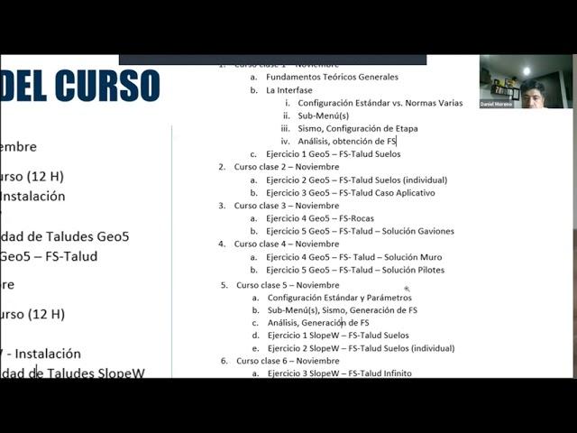 2020918 Estabilidad de Taludes • Daniel Moreno