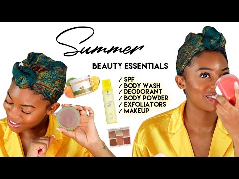 SUMMER BEAUTY ESSENTIALS  SPF Body & Foot Care Hygiene Tips Makeup + More