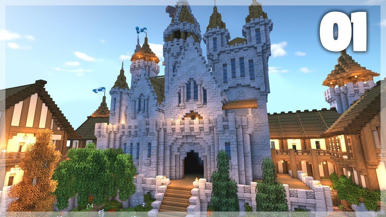 Minecraft How To Build A Medieval Castle Huge Medieval Castle