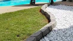 Landscaping with white Marble Rock and Pavers
