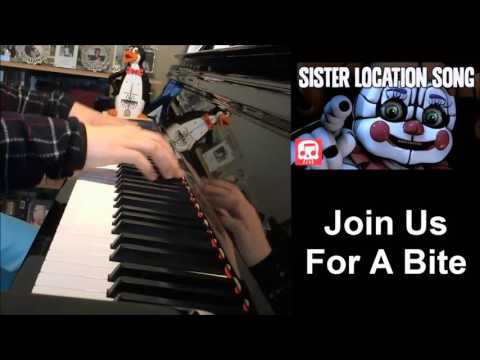 "FNAF Sister Location Song - ""Join Us For A Bite"" - JT Machinima (Piano Cover by Amosdoll)"