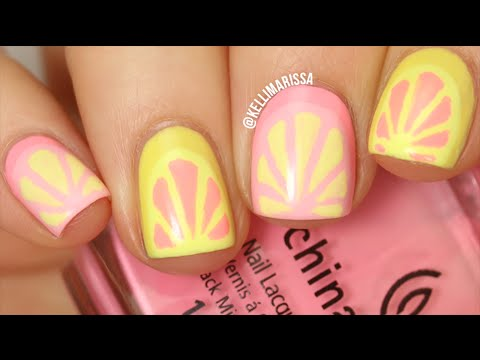 Summer Pink Lemonade Nail Art Tutorial Kelli Marissa