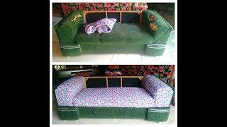 Reformando sofá SEM DESMONTAR com menos de 50 reais usando pregos e cola quente