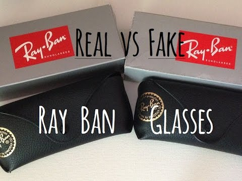 6ea9313239 How to tell the difference between real and fake Ray Ban glasses(3025  Aviators) - YouTube
