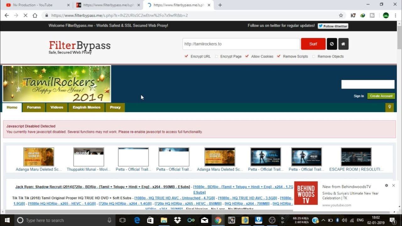 TAMILROCKERS NEW WEBSITE On 2019 And How To Find At JAN 1