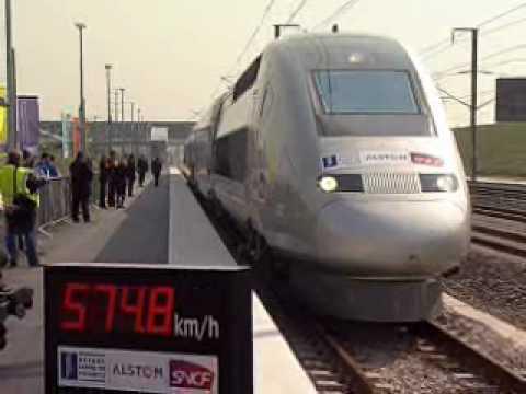 Alstom worlds fastest rail train 574.8 KMH