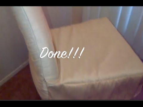 How To Make Kitchen Chair Back Covers Black Mat Diy Cover Simple Quick And Easy Matv Youtube
