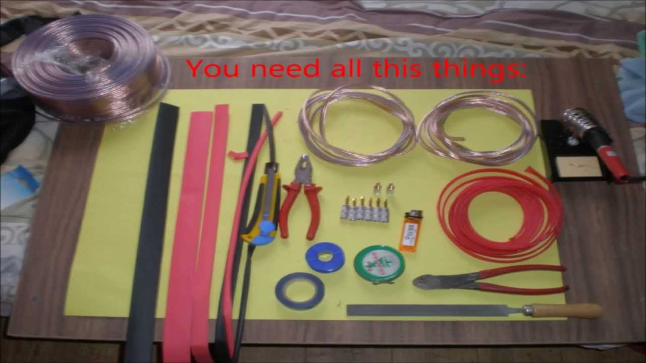 how to make high quality speaker cable with nakamichi plugs diy youtube. Black Bedroom Furniture Sets. Home Design Ideas