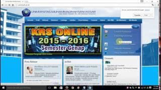 Cara Pengisian KRS Online Mahasiswa Unismuh Makassar