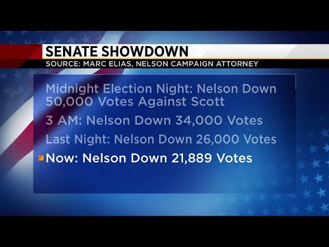 Nelson campaign attorney confident there will be a hand recount in Senate race
