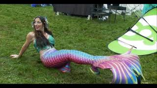 a fun life of a mermaid  11th aug 2018 at brotherhood of the black pirate festival at Llancaiach faw