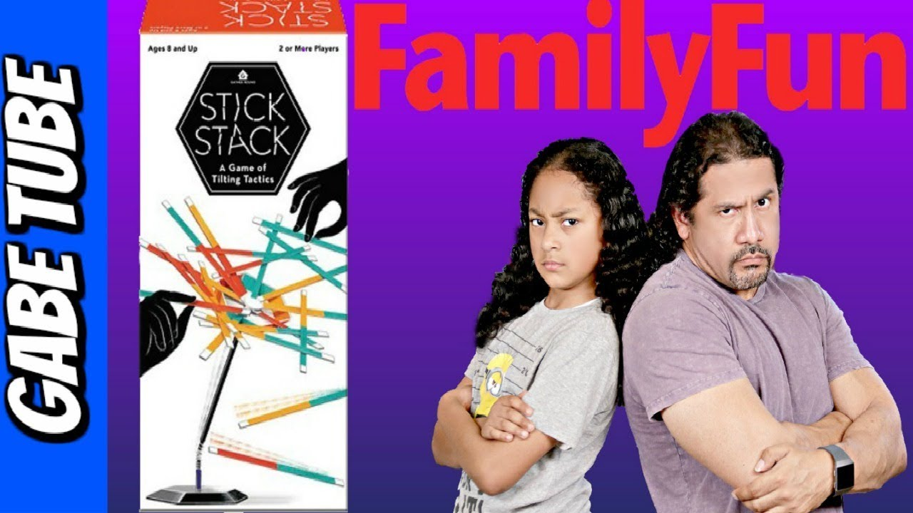 Family Fun Party Games STICK STACK GAME UNBOXING & REVIEW Strategy Game Gabe Tube TV