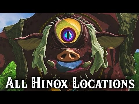 All Hinox Locations - The Legend Of Zelda: Breath Of The Wild