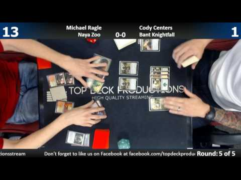 Modern FNM 5/5/17: Michael Ragle (Naya Zoo) vs. Cody Centers (Bant Knightfall)