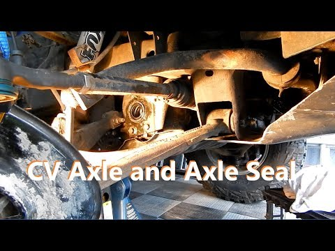 How to replace Axle Seal and CV Axle on GM trucks – Hummer H3, GMC Canyon, Chevrolet Colorado