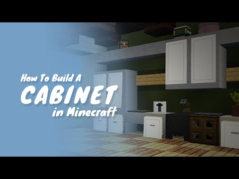 How To Build Drawers & Cabinets in Minecraft