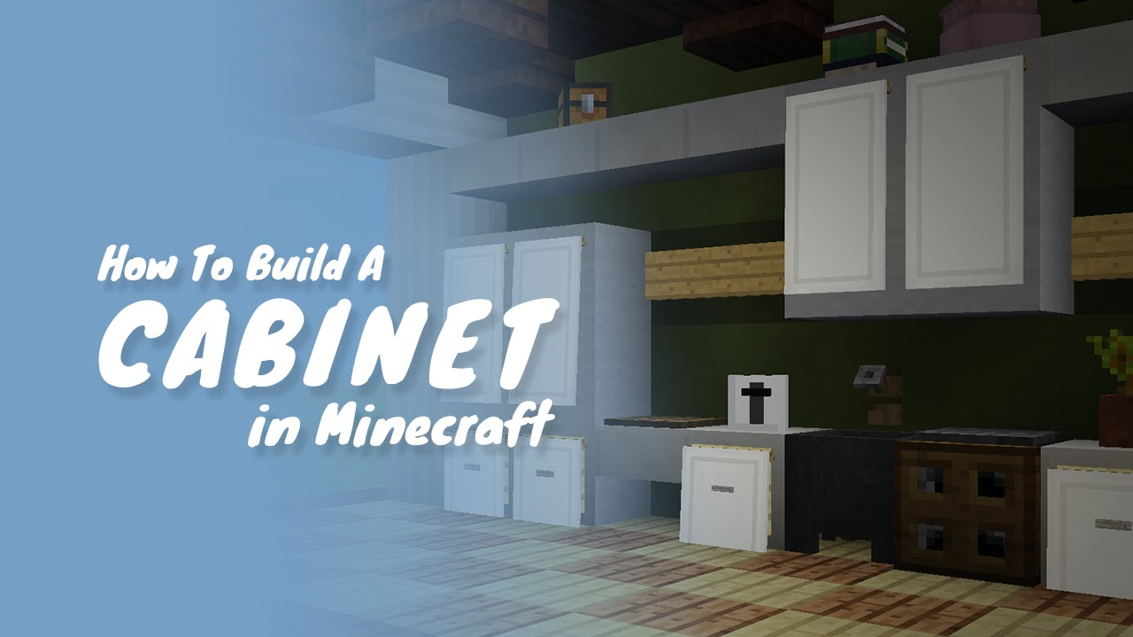 How To Build Drawers Cabinets In Minecraft Youtube