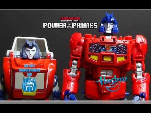 Transformers Power of the Primes Optimus Prime & Orion Pax toy review