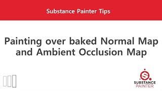 [Substance Painter] Malerei überbackener Normal Map und AO Map